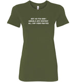 Just As You And I: Animals Are Sentient: women's fitted vegan tee shirt