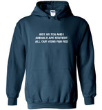 Just As You And I: Animals Are Sentient: hooded sweatshirt for adult or kids
