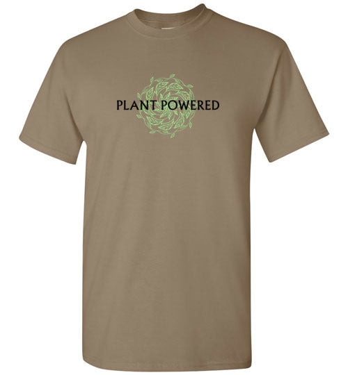 Plant Powered: Men, Women, Kids sizes - unisex vegan tshirt