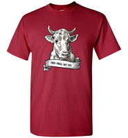 Thou Shall Not Kill: Cow: basic boxy, unisex vegetarian or vegan teeshirt