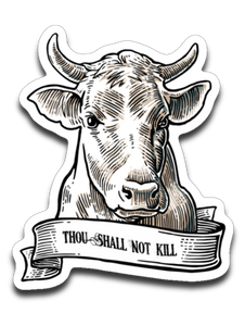 Thou shall not kill: cow- Car decal