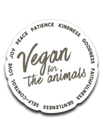 Vegan for the Animals: fruits of the spirit- Car decal