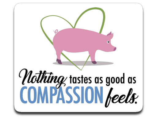 Nothing tastes as good as compassion feels- vegan car decal