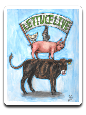 Lettuce live: Cynical Coyote- Car decal