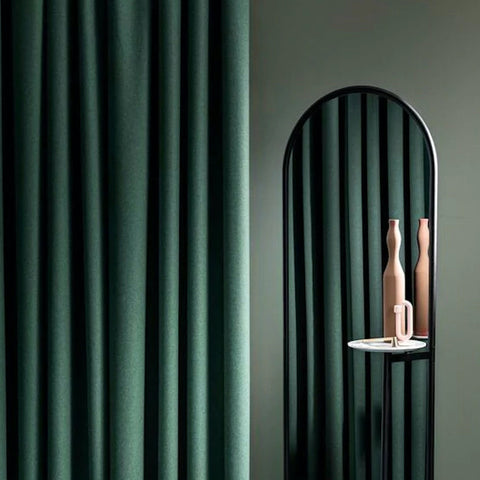 Velvet Shower Curtain in Emerald