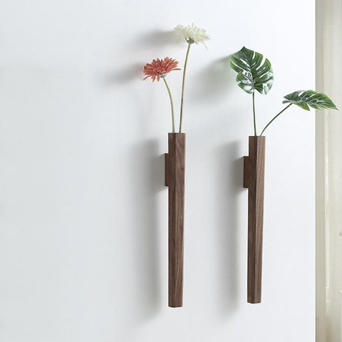 Wood Wall Botanical Holder