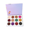 Highly pigmented 12 piece eyeshade palette from Jacque Mgido Cosmetics