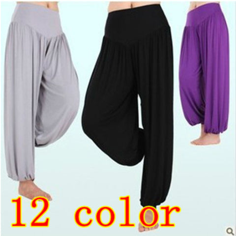 Hot sale S1 High waist New 2014 Women Harem Pants Modal Dancing Trouser Loose plus size leggings Free Shipping
