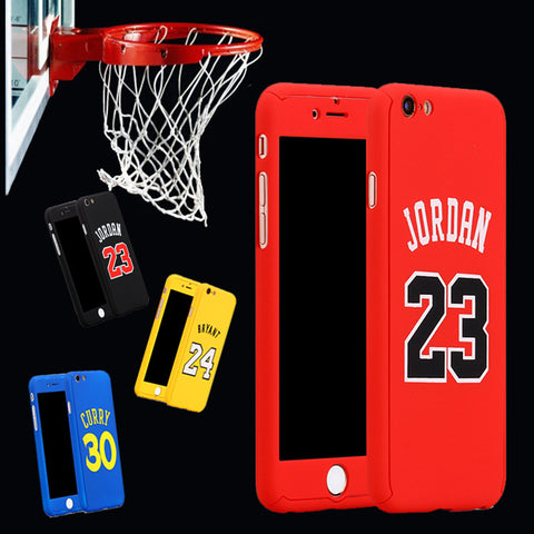 For iPhone 6 Case 360 Kobe Bryant Curry Full Body Case for iPhone 7 Plus 6 6s Plus iphone7 Michael Jordan Air 23 Basketball Case
