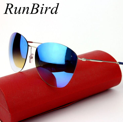 Fashion 2016 New Vintage Rimless Sunglasses Women Brand Designer Retro Sun Glasses Coating Sunglass Oculo De Sol Feminino R104