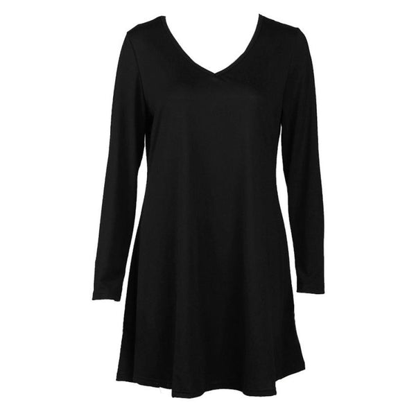 Autumn Winter New Brand MOKINGTOP Women Dress Casual Long Sleeve Evening Party Short Cotton Linen Midi Dresses#LSN