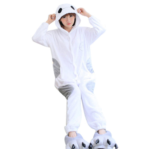 Flannel Thicken Adult Pajamas Cartoon Animal Siamese Nightgown New Fashion Home Furnishing Wear Onesie Pajamas Wholesale&Retail