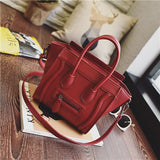 Bolsos Mujer 2016 Trapeze Smiley Tote Bag Luxury Brand Pu Leather Women Handbag Shoulder Bag Famous Designer Crossbody Bags Sac