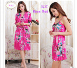 Brand New 2014 Silk Women Nightgown Robe Sets 2014 Brand Sleepwear Set Silk Nighties Sleepwear Silk Robe Women Sleepwear WD1636