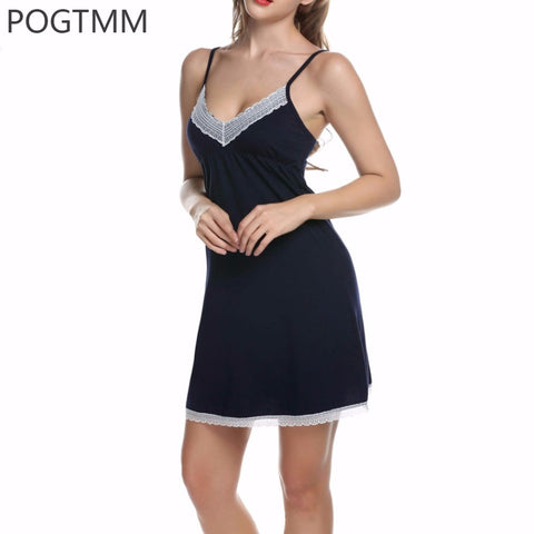 Lady Cotton Nightgown Women Nightwear Night Dress Female Sleeveless Lace Nighty Sexy Sleepwear Sleep Sleepshirt Home Clothes L1