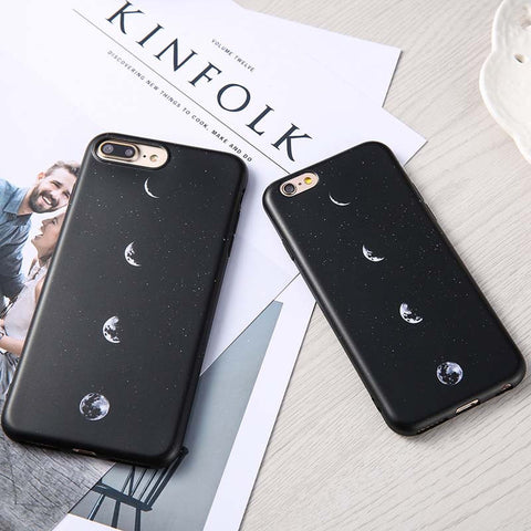 Fashion Moon Lunar Eclipse Space Phone Cases For iPhone 7 6 6S Plus Fundas Top Quality Ultra Thin Soft TPU Silicon Back Cover