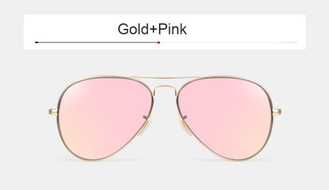Fashion Vintage Men Stainless Glass Polarized Sunglasses Women Brand Designer Rose Gold G15 Mirror Driving Aviation Sun Glasses