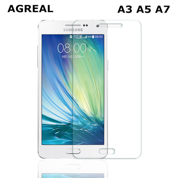 AGREAL Tempered Glass For Samsung Galaxy A3 A5 A7  A710F Screen Protector Safety Protective Film A300F A500F A700F A700 2015