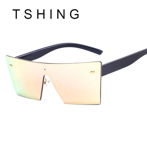 TSHING 2017 New Rimless Square Sunglasses Fashion Italy Brand Designer Men WomenIntegrated Mirror Sun Glasses UV400