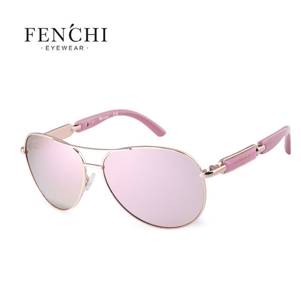 Fenchi 2017 sunglasses women metal hot rays glasses driver pilot mirror fashion men design new colourful high quality