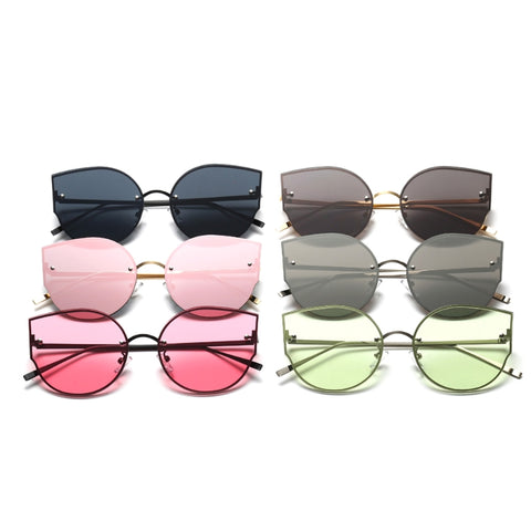 1 Pair Fashion Women Cat Eye Sunglasses Designer Vintage Mirrored Eyeglasses Shades New