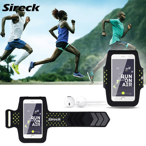 Sireck Sport Running Bag 5.8'' Waterproof Armband Men Women Run Jogging Arm Bag Phone Case Gym Arm Band Belt Bag Accessories