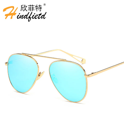 HINDFIELD New Pilot Sunglasses Women Brand Designer Sun Glasses for Women Sunglass Aviator Female Eyewear Oculos Lunette Femme