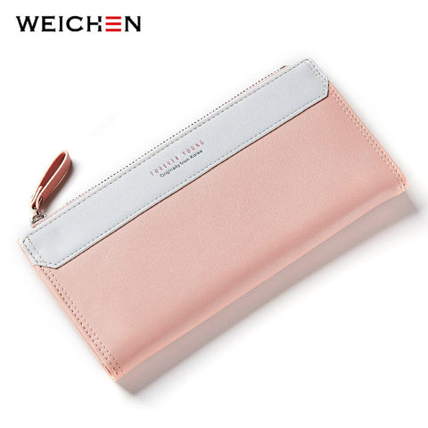 WEICHEN Lady Women Long Wallets Female Clutch Wallet Phone Coin Pocket Ladies Purse Women's Purses PU Leather Zipper&Hasp Bag