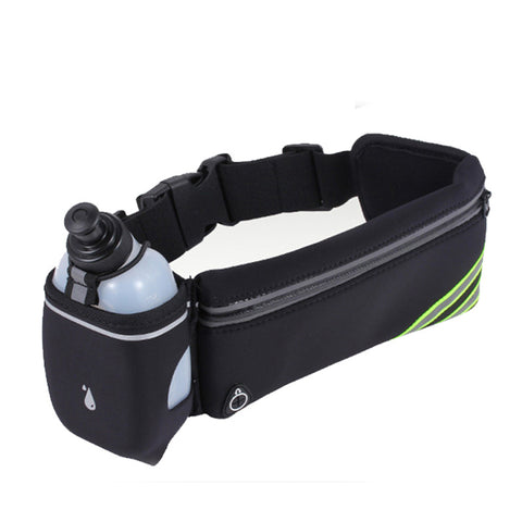 hot Outdoor Running Waist Bag Waterproof Mobile Phone Holder Jogging Belt Belly Bag Women Gym Fitness Bag with bottle holder