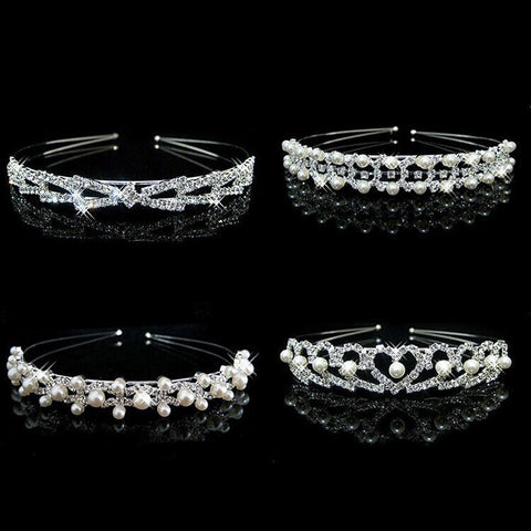 1Pcs Women Party Crystal Hairband Tiara Headband Hair Hoop Head Bands Wedding Bridal Headwear Hair Band Hair Accessories