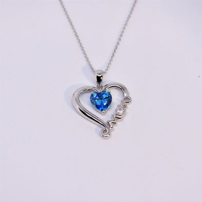 925 Sterling Silver 'Moms Love' Necklace