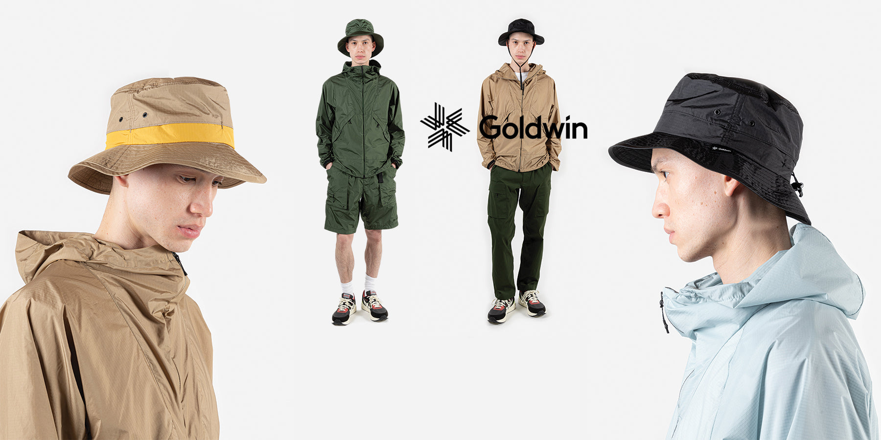 goldwin spring summer 21 element light jacket lifestyle available at wallace mercantile shop vancouver canada