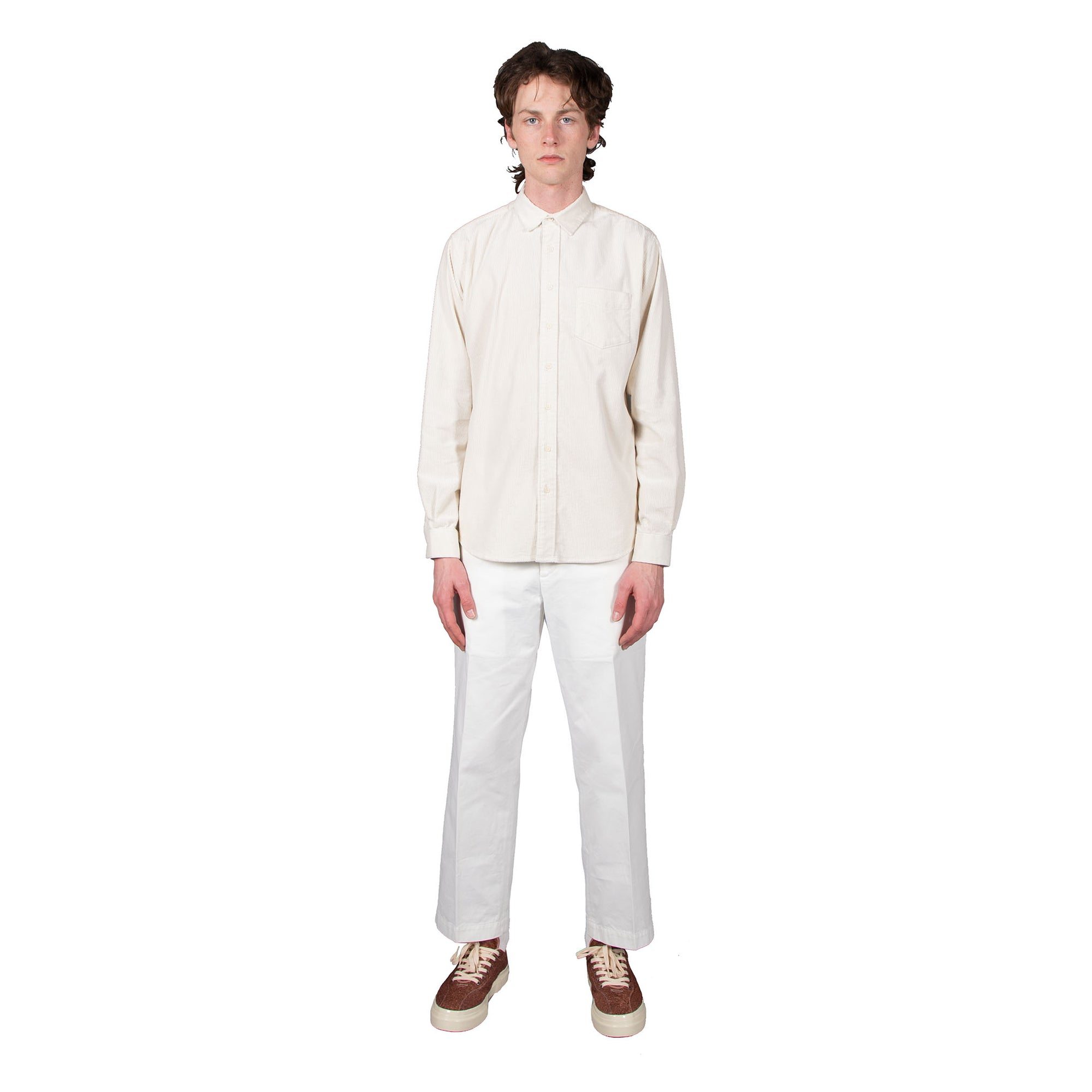 Shop Schnayderman's shirt online unbutton cord off white