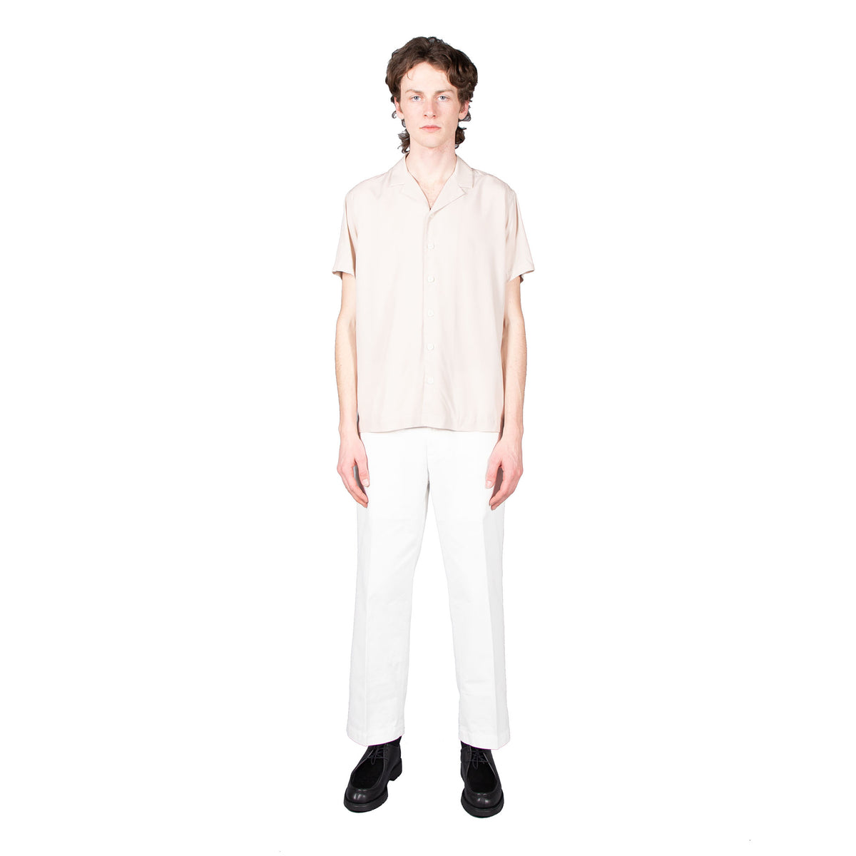 Shop Schnayderman's shirt online notch tencel ss short sleeve sand