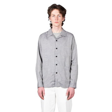 Shop Schnayderman's shirt online Overshirt boxy Melange check blue grey