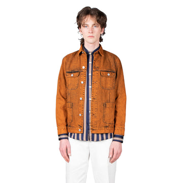 Shop Schnayderman's Jacket online Denim Jacket Double Dyed Orange