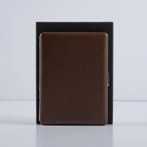 Cosmos Cigarette Case - Smooth Leather Brown