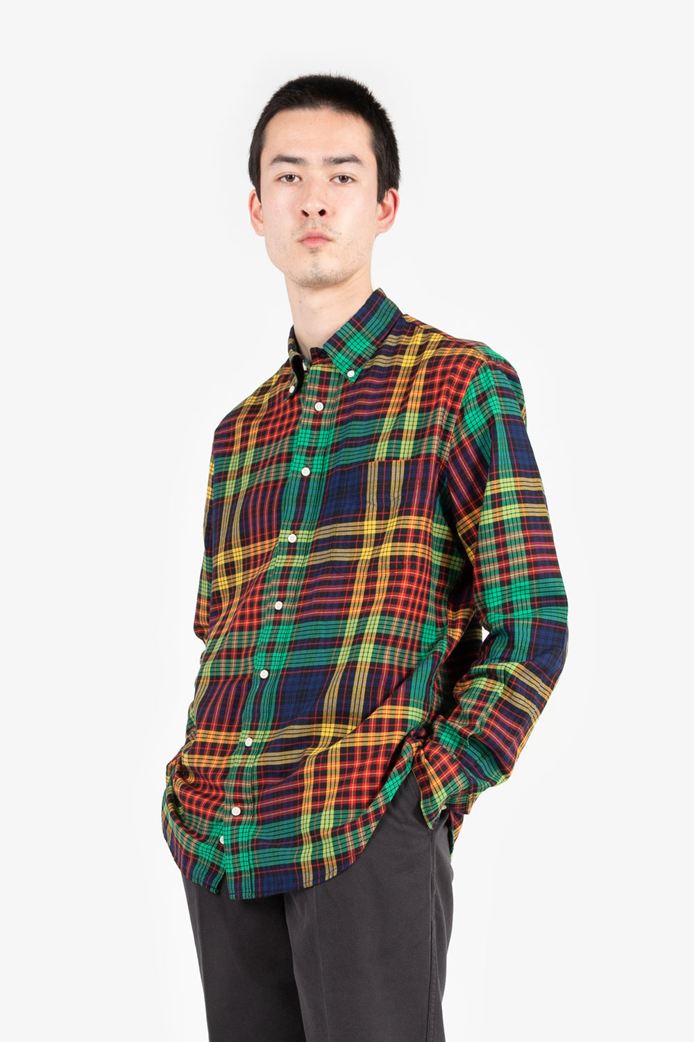 gitman vintage cervinia fluro plaid
