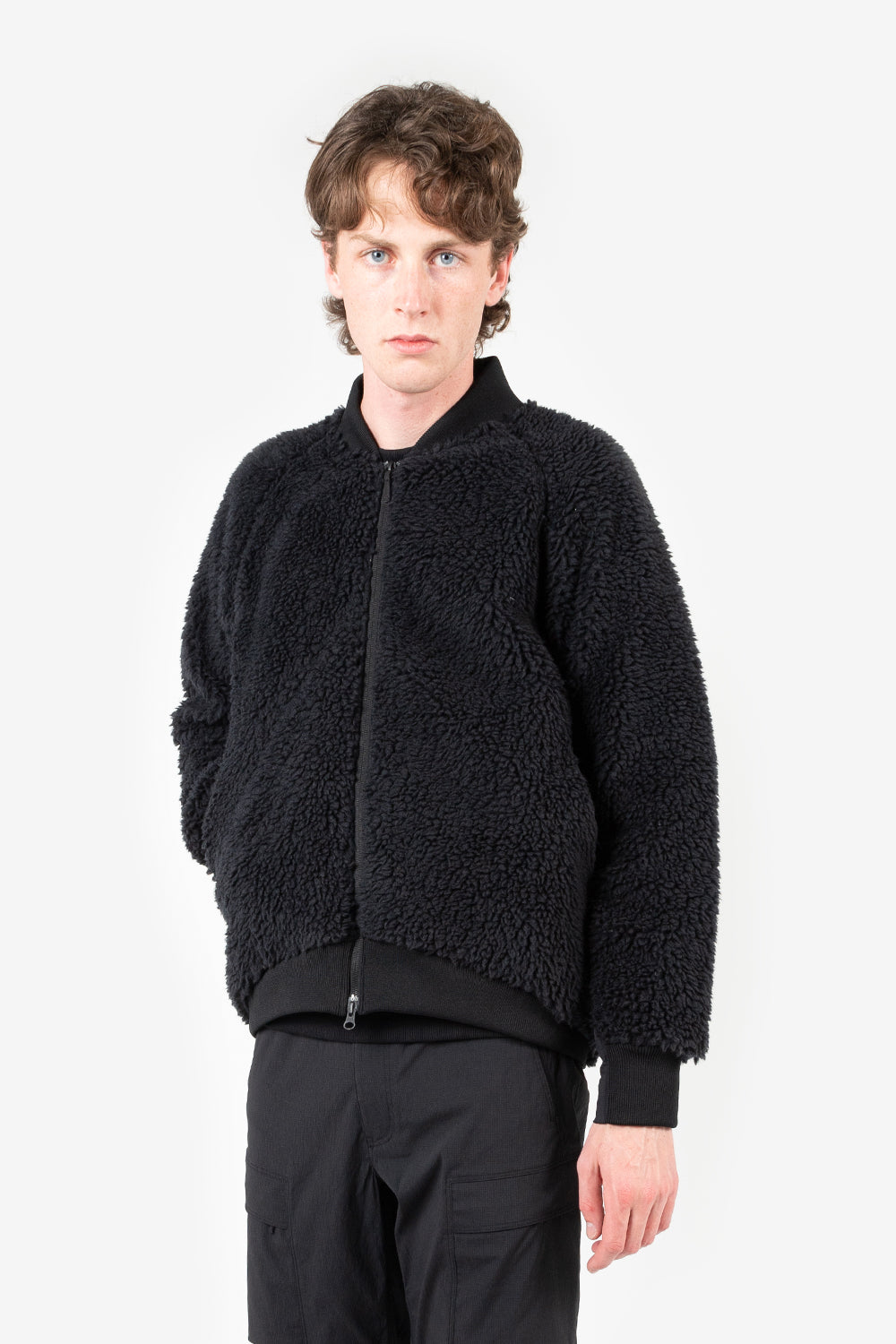 Goldwin boa fleece blouson black