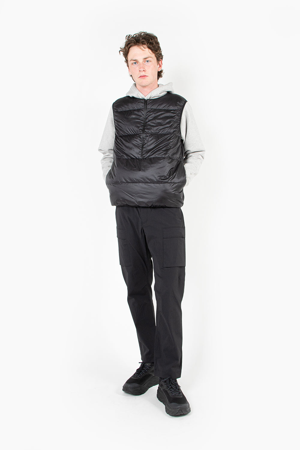 goldwin light air down vest black