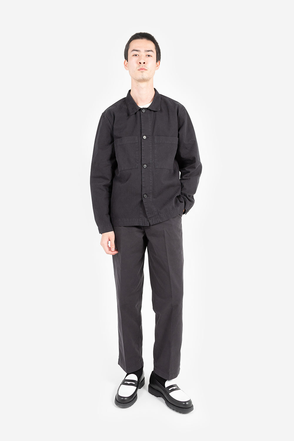 Knickerbocker chore shirt black fabric