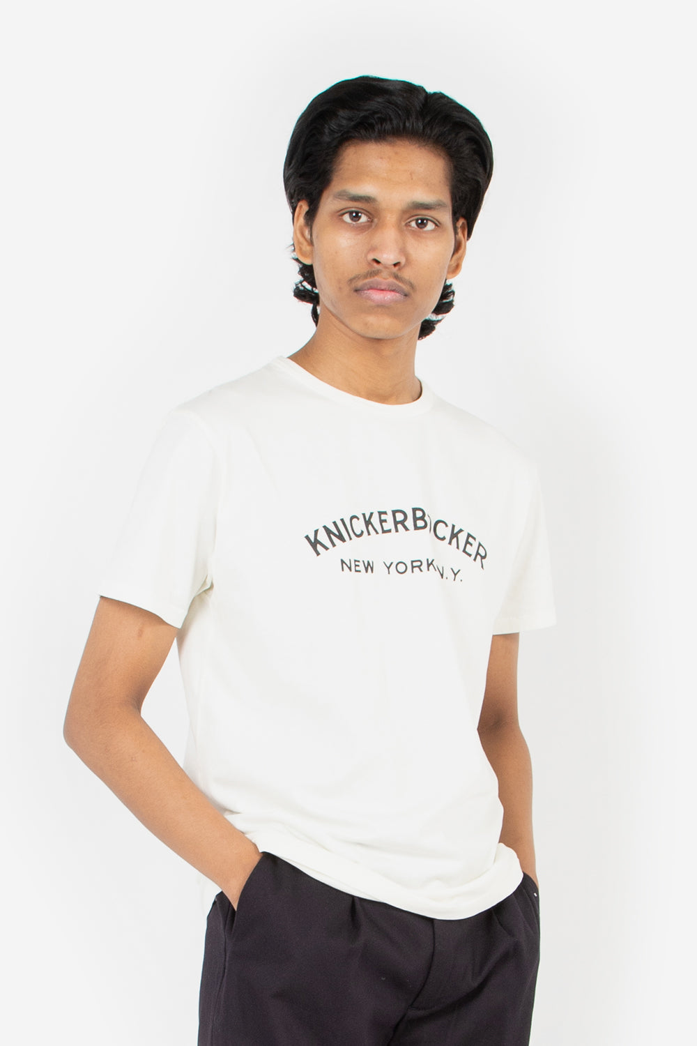knickerbocker core tee logo milk