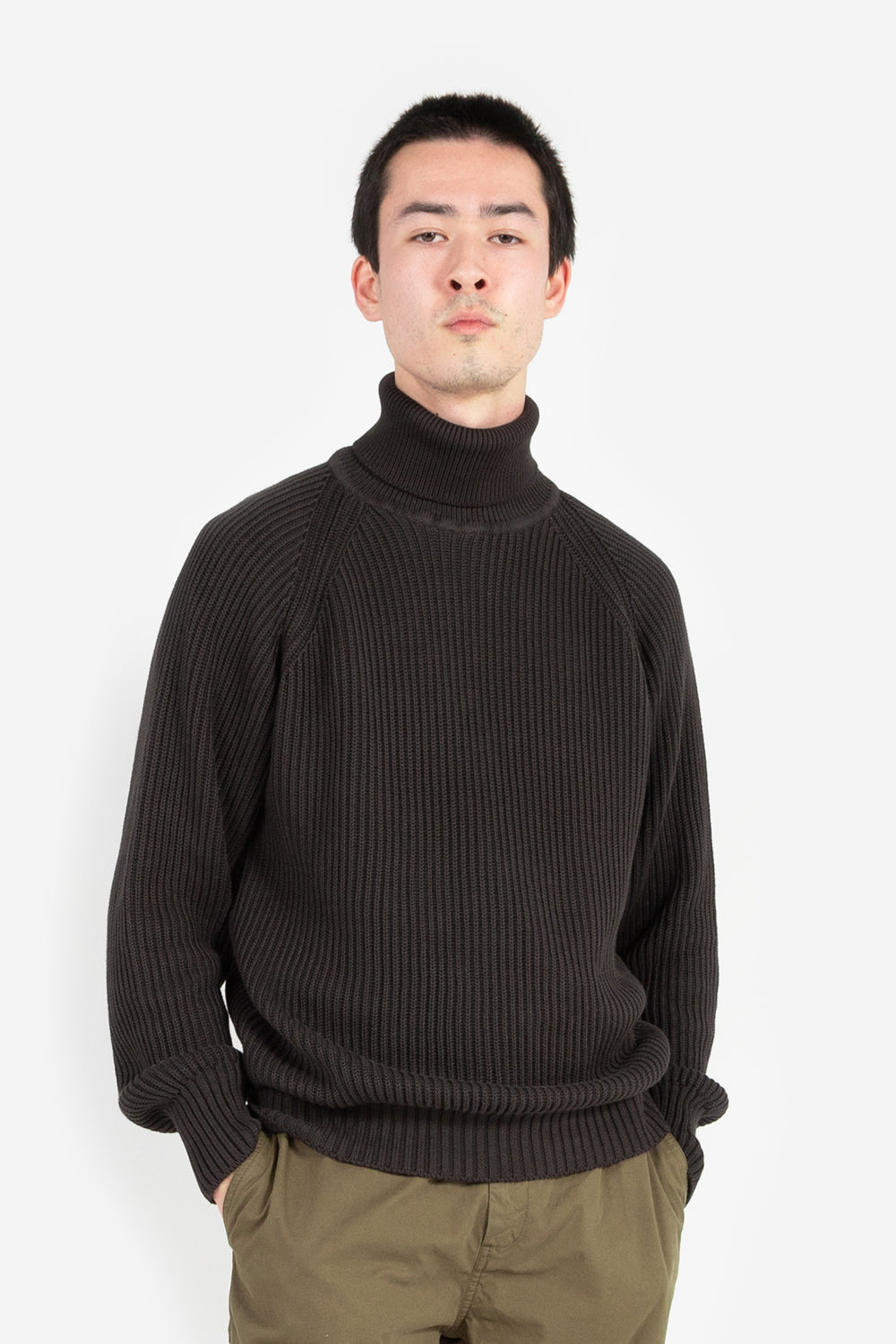 knickerbocker heavy Rib Turtleneck Sweater Black