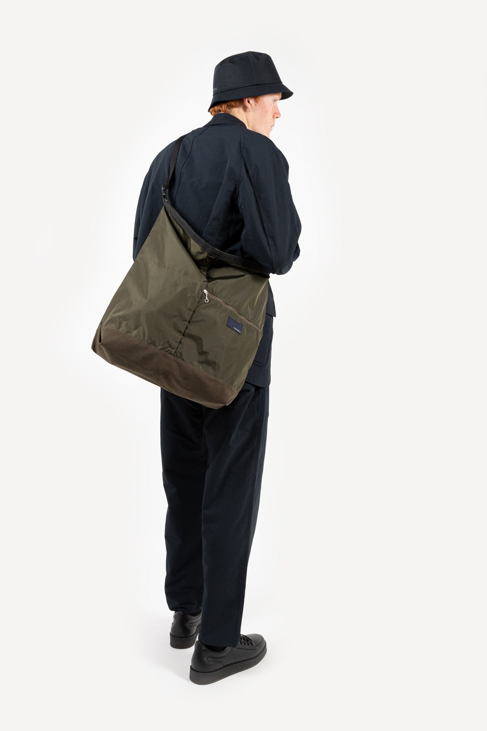 nanamica utility shoulder bag in olive