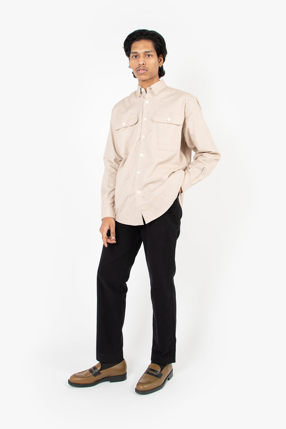 schnayderman's boxy shirt cashmere solid