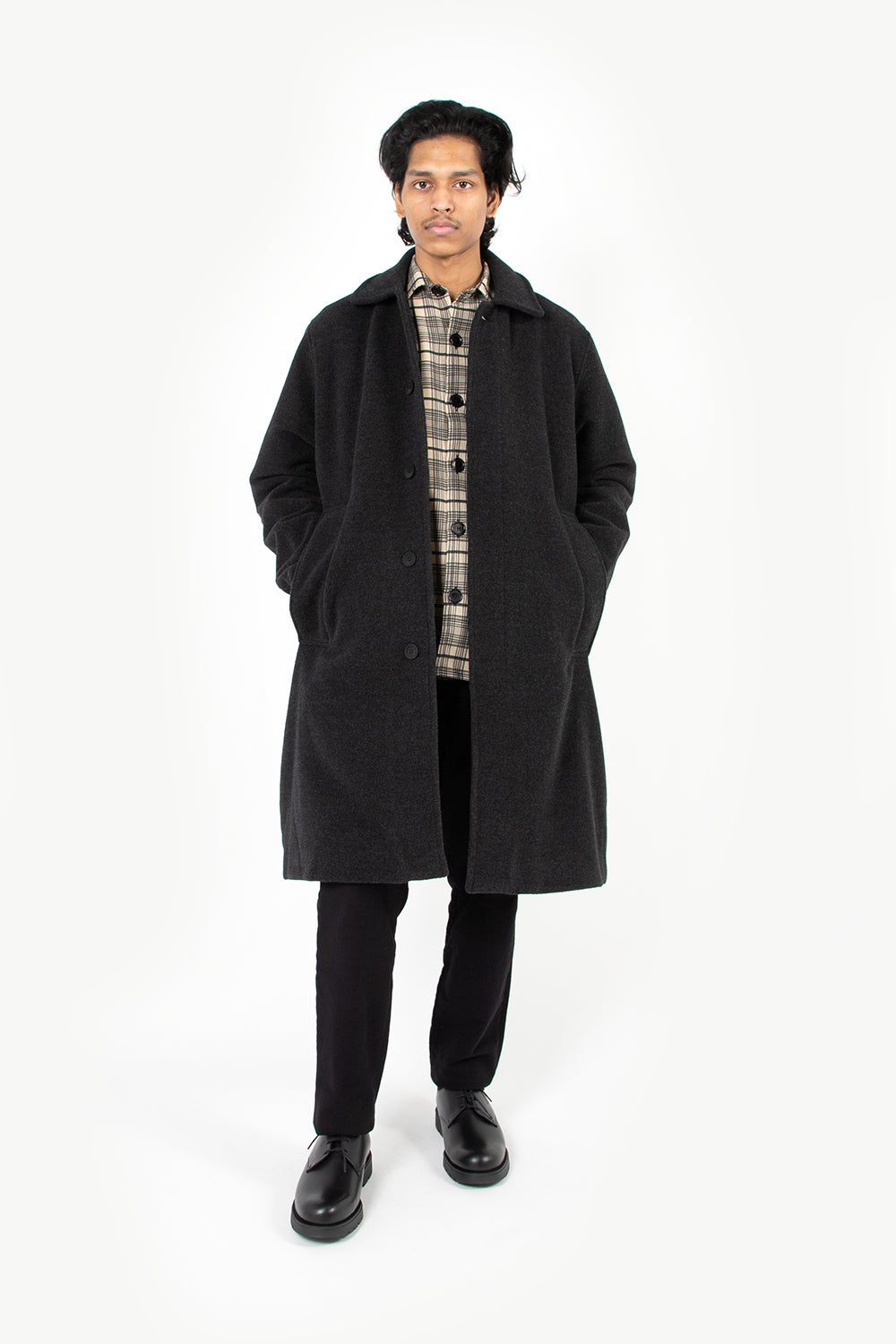 schnayderman's car coat merino wool