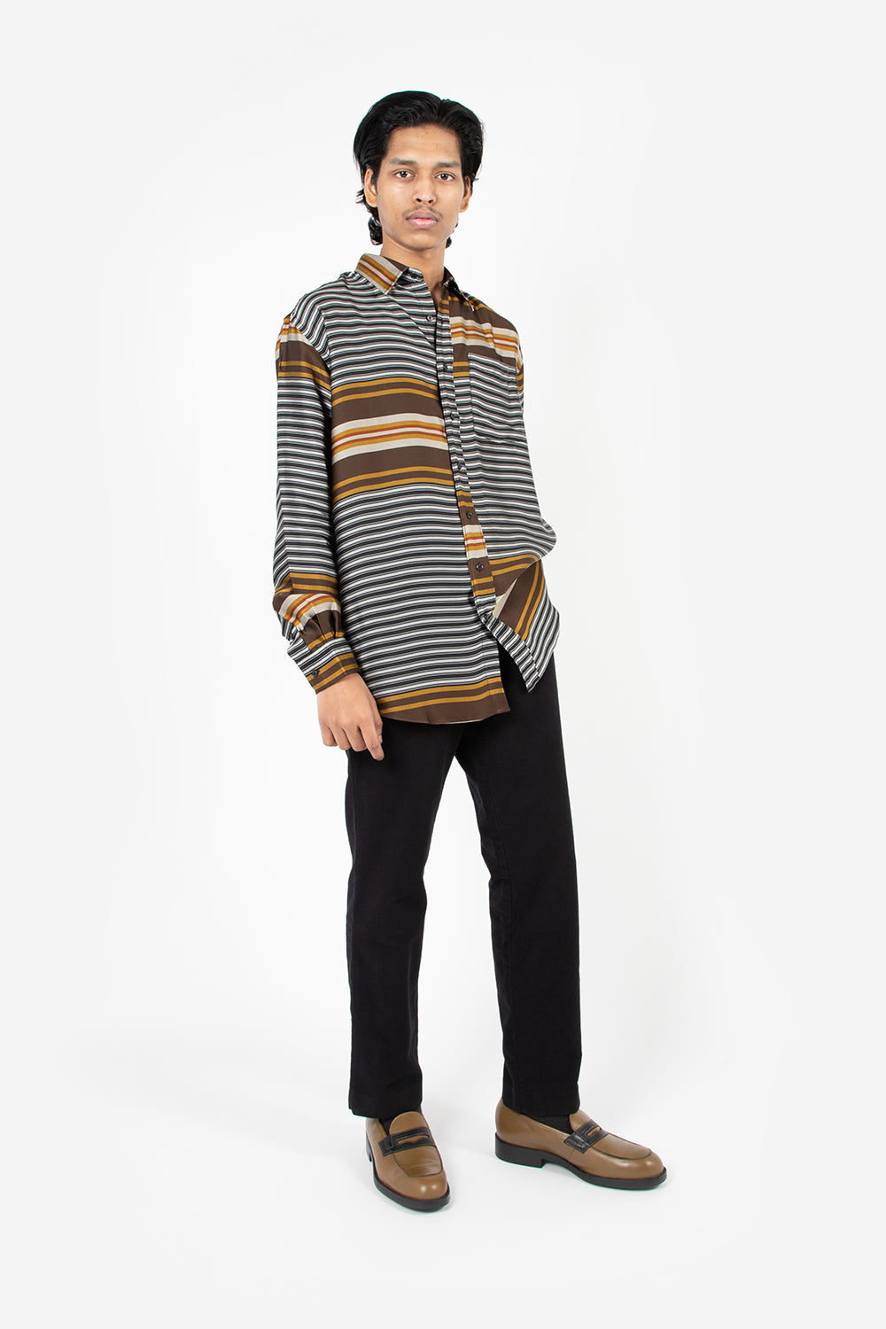 schnayderman's liquid stripes non binary shirt