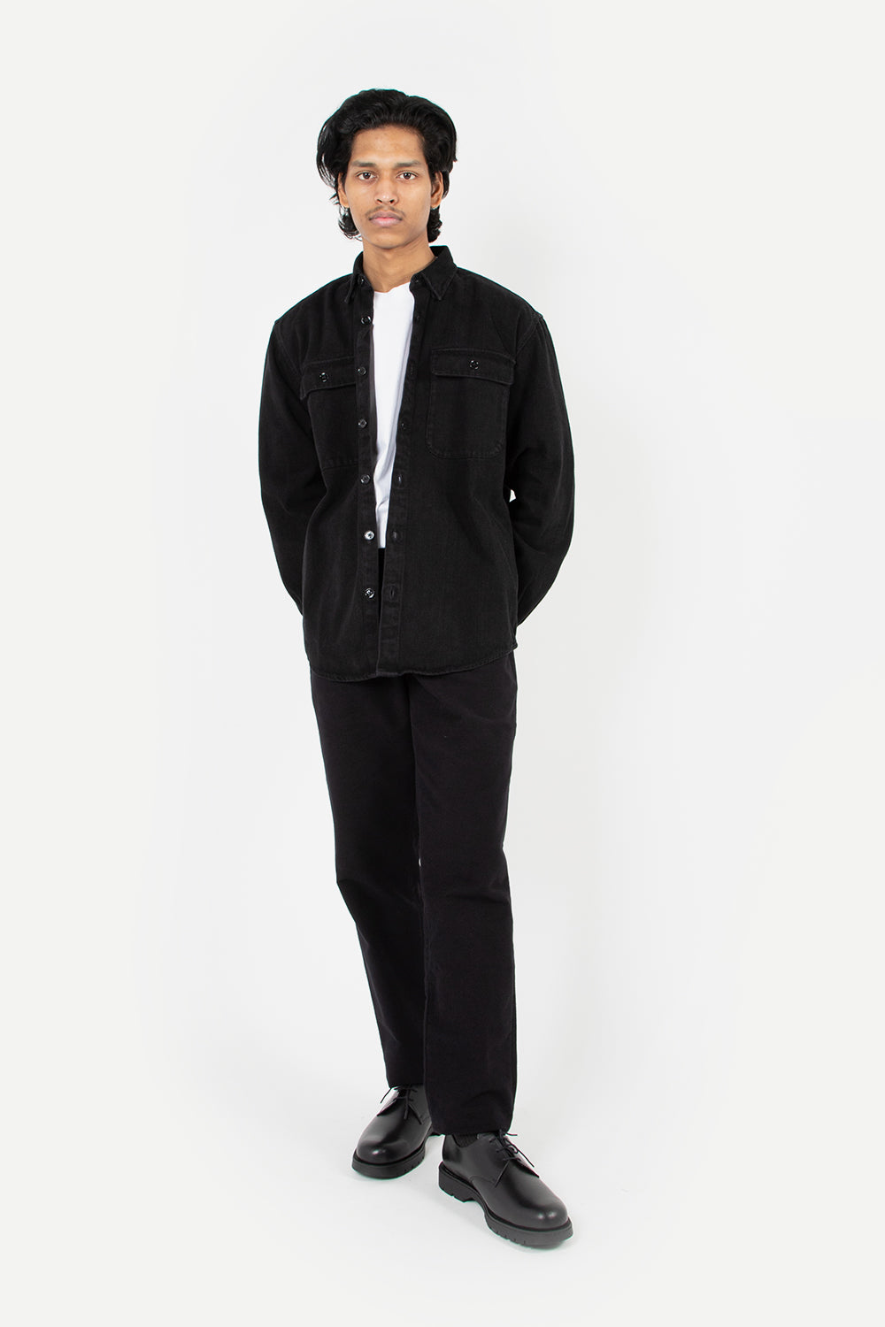 schnayderman's shirt boxy denim-black