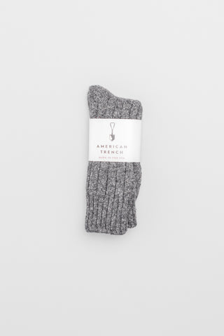 Wool Silk Boot Socks - Charcoal