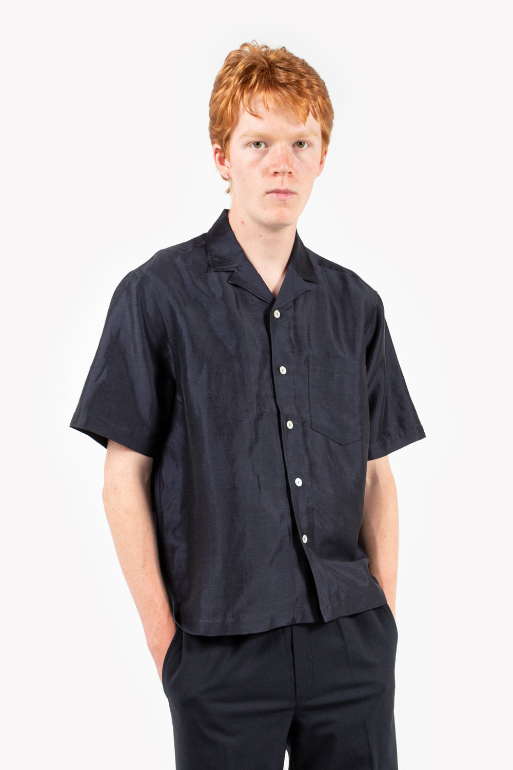 soulland pappy shirt in navy